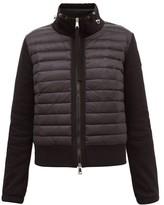 Moncler High-neck Down-filled Cotton-blend Jacket - Womens - Black