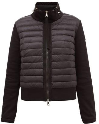 Moncler High-neck Quilted Down Cotton-blend Jacket - Black