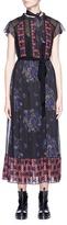 Coach Crochet lace panel floral print dress