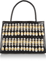 Nancy Gonzalez Embellished glossed-crocodile tote