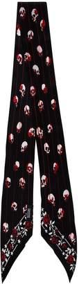 Rockins black print silk scarf