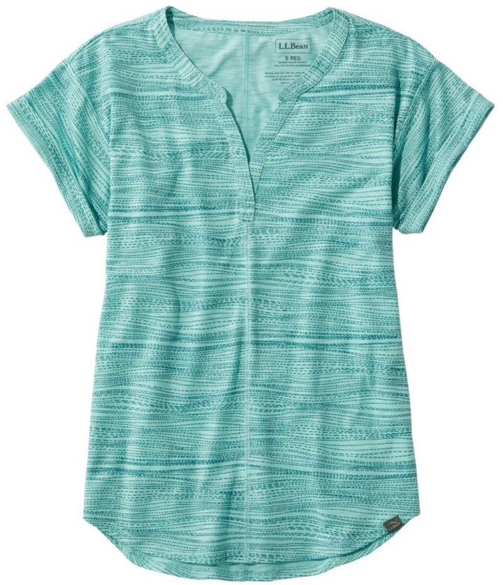 L.L. Bean L.L.Bean Women's Short-Sleeve Streamside Tee, Print