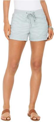 Style&Co. Style & Co Petite Knit-Waistband Poplin Shorts