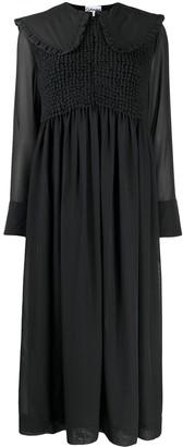 Ganni Ruffled Oversized Collar Dress