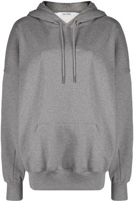 Daily Paper Horhine rhinestone-logo cotton hoodie