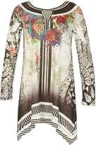 Izabel London *Izabel London Multi Coloured Black Mesh Tunic