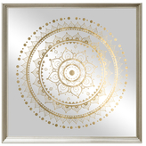Oliver Gal Mandala Foil and Natural Wood (Framed Mirror)