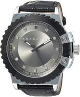 Sean John Men's 10030885 Genuine Diamond Analog Display Japanese Quartz Black Watch