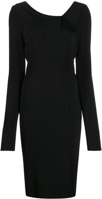 Styland Long-Sleeve Midi Dress