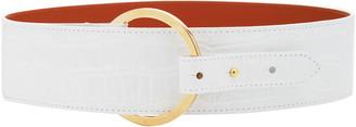 MAISON BOINET Croc-Embossed Leather Belt
