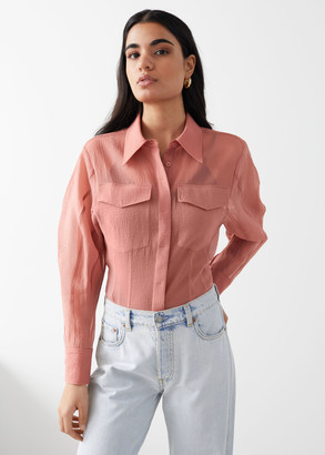 And other stories Semi-Sheer Hourglass Blouse