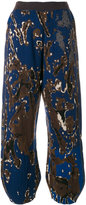 Boboutic camouflage print gathered ankle trousers