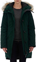 Canada Goose Women's Fur-Trimmed Rossclair Parka-GREEN