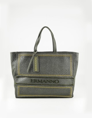 Ermanno Scervino Military Green Studded Tote Bag