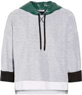 Alexander Wang Shell-paneled French cotton-terry hooded top
