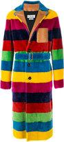 Loewe striped furry coat - men - Cotton/Cupro/Viscose - 46