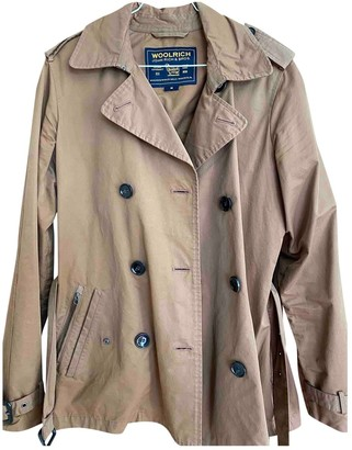 Woolrich Beige Cotton Trench Coat for Women