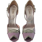 Prada Purple Cotton Sandals