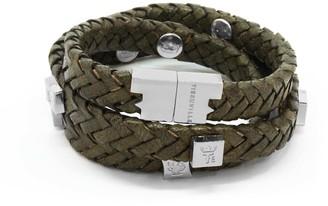 Brio Tissuville Bracelet Olive Silver