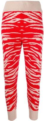 Laneus Patterned Knitted Leggings