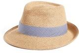 Eric Javits Women's 'Classic' Squishee Packable Fedora Sun Hat - Beige