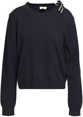 Claudie Pierlot Appliqued Pointelle-knit Sweater