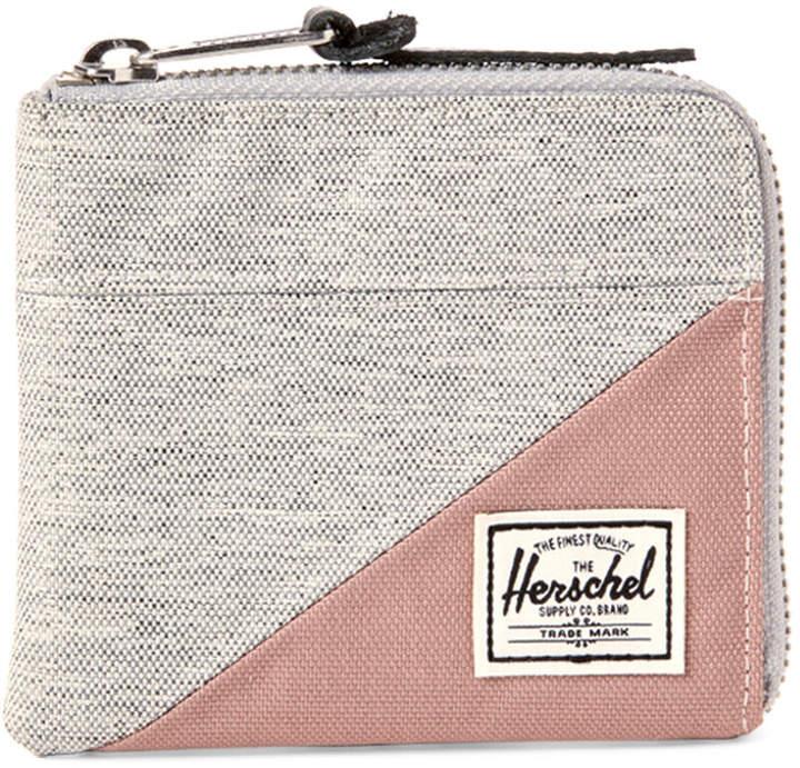 Herschel Light Grey Johnny Zip Wallet
