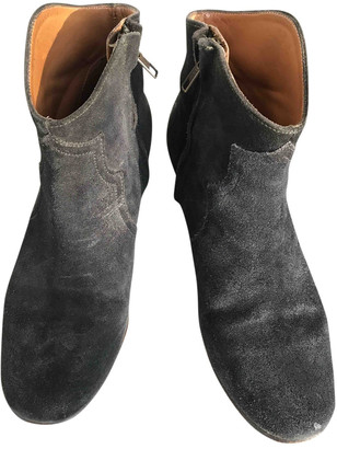 Etoile Isabel Marant Anthracite Suede Ankle boots