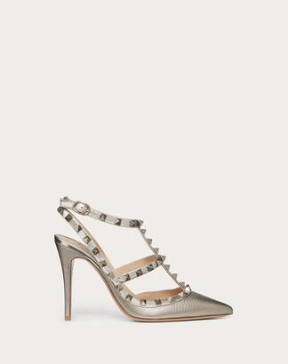 Valentino Rockstud Metallic Ankle Strap Pump 100 Mm Women Skin Lambskin 100% 34