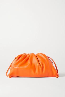 Bottega Veneta The Pouch Small Gathered Leather Clutch - Orange