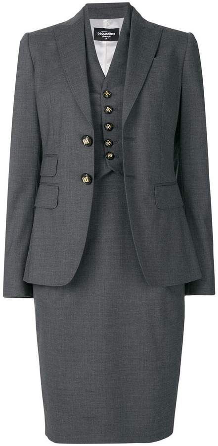 DSQUARED2 classic skirt suit