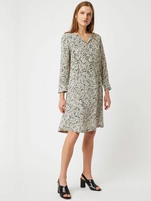 Great Plains Javan Print Dress In Black White - 6