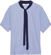 Elizabeth and James Tessa cotton-poplin blouse