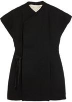 Rick Owens Wool-blend Wrap Vest - Black