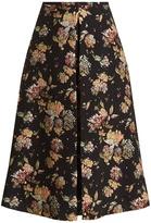 Rochas Floral-jacquard A-line skirt