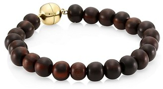 Maria Canale Voyager 18K Yellow Gold & Wood Bead Bracelet
