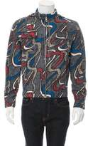 Carven Abstract Print Hooded Jacket