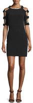 Jenny Packham Bow-Sleeve Sheath Cocktail Dress, Black