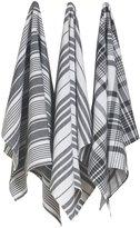 Now Designs Jumbo Pure Kitchen Towel (Set of 3)-Black