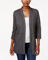 Karen Scott 3/4-Sleeve Open Front Cardigan, Only at Macy's
