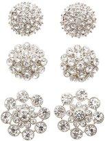 Charlotte Russe Embellished Oversize Stud Earrings - 3 Pack