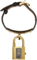 One Kings Lane Vintage Hermès Black & Gold Epsom Kelly Watch