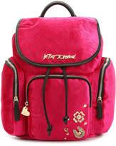 Betsey Johnson Velvet Backpack - Women's
