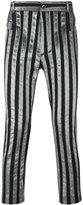 Haider Ackermann striped trousers - men - Cotton/Polyester/Spandex/Elastane - S