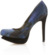 Sam Edelman Ulysa Platform Pump, Midnight Blue Satin