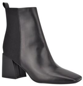 Nine West Women's Griffin Block Heel Booties Women's Shoes
