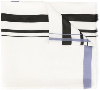 Hermes Pre-Owned Silk Stripe Scarf