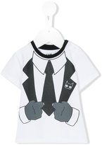 Karl Lagerfeld tuxedo print T-shirt - kids - Cotton/Spandex/Elastane - 18 mth