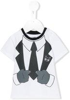 Karl Lagerfeld tuxedo print T-shirt - kids - Cotton/Spandex/Elastane - 6 mth