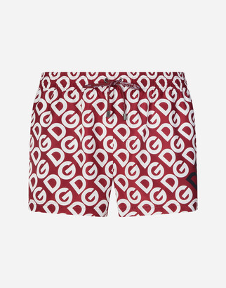 Dolce & Gabbana Short Swimming Trunks With Logo Print